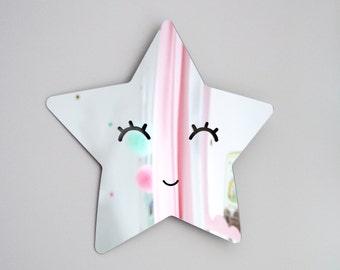 STAR Acrylic mirror for kids room, nursery room, wall decor