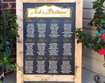 Wedding Seating Chart, Wedding Seating Plan, Seating Plan, Seating Chart Sign, Seating Chart, Wedding Seating, Table Assignment Sign