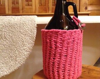 Hand Knitted Beer Sweater - Growler Bottle Insulator
