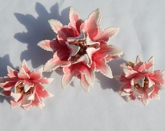 Trifari Enameled Flowers Set