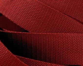 3 m belt bag belt 30 mm in dark red