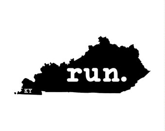 Run KY State Outline Magnet