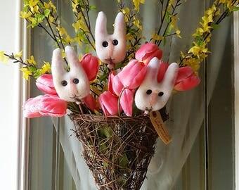 I have a little rabbit - primitive bunny/rabbit poke