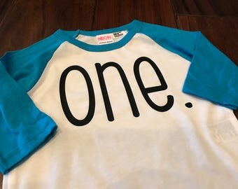 One. Design on Raglan T-Shirt