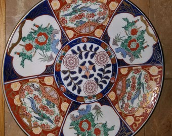 Vintage Gold Imari wall charger plate