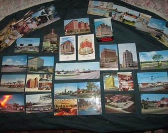 vintage post cards !! HOTELS and MOTELS !!