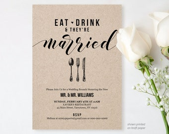post wedding brunch | etsy, Wedding invitations