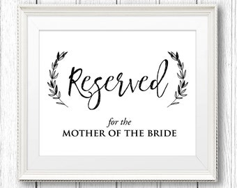 Kraft reserved sign etsy for Reserved seating signs template