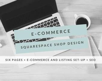 E-Commerce Squarespace Website Design, Shop Design, Squarespace Store Design, Custom Website, Custom E-Commerce Site, Online Store Design