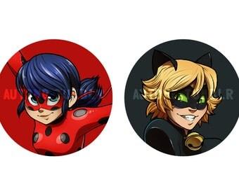 Miraculous Ladybug Buttons