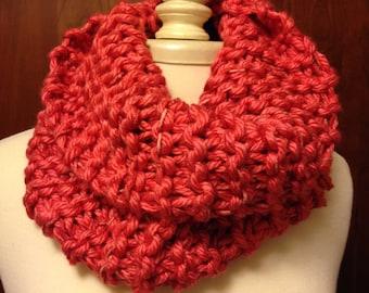 Salmon Pink knit Cowl