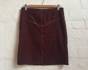 High Waisted Corduroy Skirt