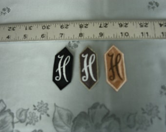EMBROIDERED MONOGRAMMED INITIAL – H