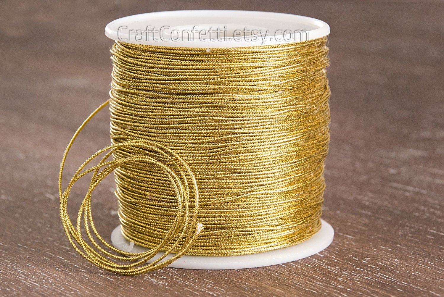 gold string 1mm gold metallic cord yellow craft cord golden