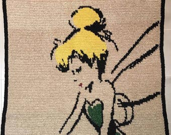 PRICE REDUCTION - Tinkerbell Baby Blanket