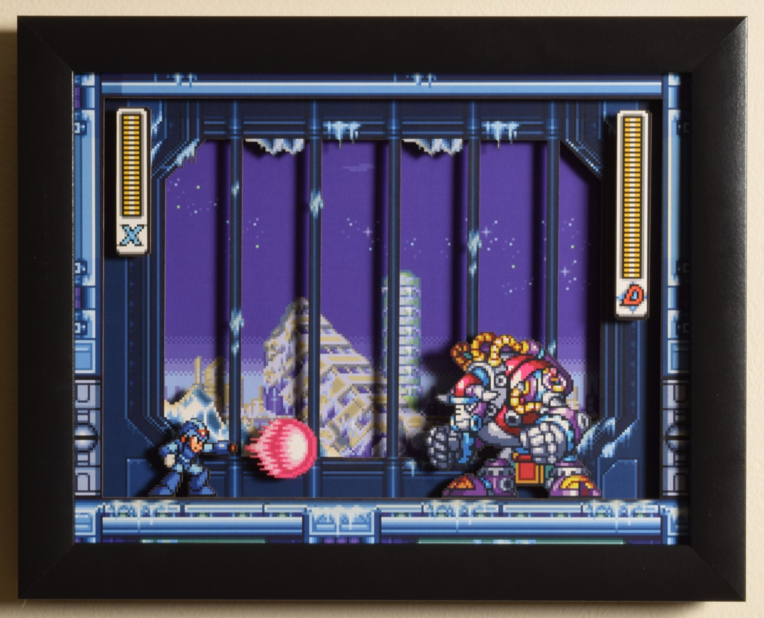 Mega Man X3 Snes Blizzard Buffalo 3d Video