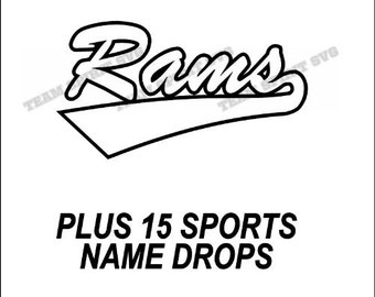 Rams Swoosh Download Files - SVG, DXF, EPS, Silhouette Studio, Vinyl Cutting Files, Digital Cut Files - Use with Cricut and Silhouette