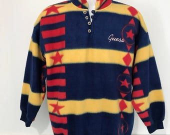 Vintage Guess Fleece Pullover L