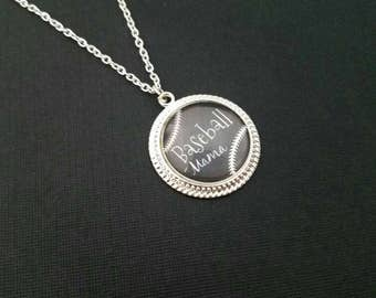 Baseball Necklace / baseball jewelry / sports jewelry / Baseball Mom / Baseball Charm / Personalized Baseball Necklace / Baseball Mom / Mama
