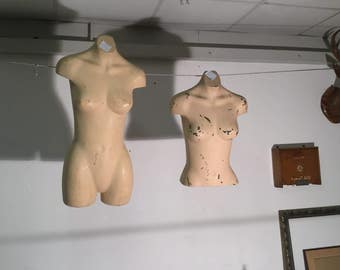 Pair Of Hanging Wall Mannequins