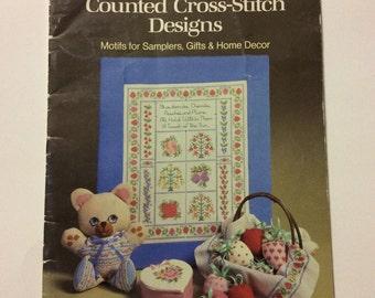 Cross Stitch Pattern Booklet - Counted Cross Stitch Designs - Home Decor - Cross Stitch - Needlework - Craft Supply