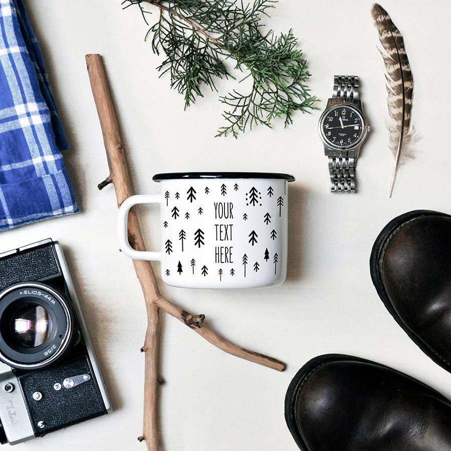 camping mug maill tasse peinte la main personnalis mug. Black Bedroom Furniture Sets. Home Design Ideas