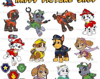 Paw Patrol SVG  Cutting File in Svg, Eps, Dxf, and Jpeg Format for Cricut and Silhouette INSTANT DOWNLOAD