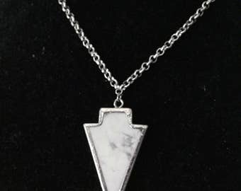 Marbled ArrowHead Necklace