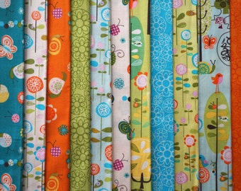 Happier by Deena Rutter for Riley Blake Designs - Quarter Yard Bundle - 11 pieces