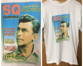 """1992 Andy Griffith Show shirt vintage Large """"Sherrifs Quarterly: How to be a Good Deputy"""""""