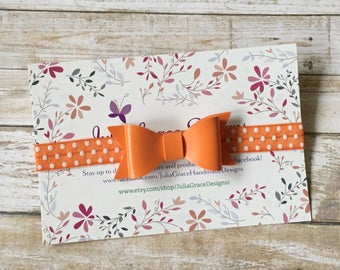 Baby Headband/Halloween Headband/Orange Baby Headband/Orange Headband/Orange Bow/Newborn Headband/Infant Headband/Baby Hair Bow/Bow Headband