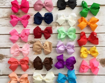 YOU PICK 3 Bow Headbands/Newborn Headband/Baby Girl Headband/Baby Headband/Baby Bow Headband/Infant Headband/Baby Bows/Headband/Bow Headband