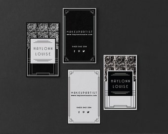 Haylonn • Premade Business Card Design Damask Art Deco Nouveau