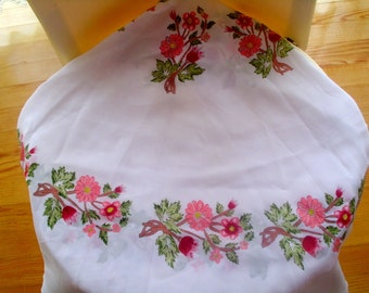 Hand painted tablecloth flower painted tablecloth