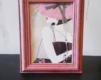 Shabby Chic pink photo frame