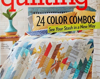 AMERICAN PATCHWORK and QUILTING Magazine June 2017 - 24 Color Combos
