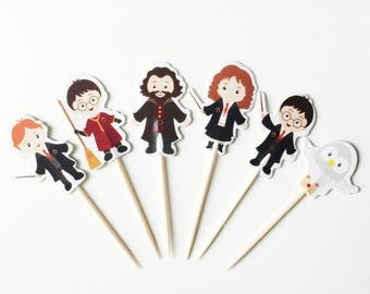 12 Harry Potter Cupcake Toppers Free US Shipping