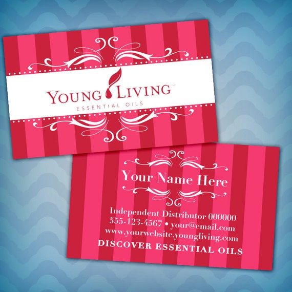 Young Living Business Card Template: Young Living BUSINESS CARDS Design Young Living By