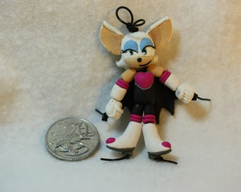 Rouge the Bat Bead-Doll (Polymer clay)