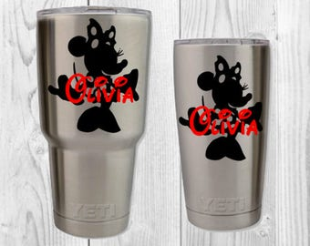 Minnie Disney Decal|Yeti Cup Decal|Yeti Decal|Disney Yeti DecalDisney Name Decal|Name Decal|Any Name Decal|Mickey Mouse Decal|Disney Sticker