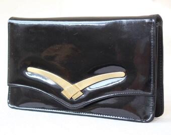 UNBRANDED Small Vintage Black Clutch / Black Wallet / Black Handbag