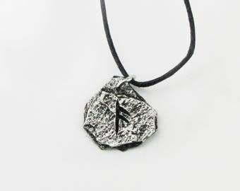 Ansuz Viking Rune or Letter A  Runic Pendant