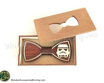 Wood bow tie Imperial Stormtrooper Star Wars