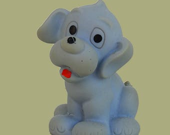 Vintage rubber dog Erlo vynil toy rubber animal toy squeaky toy sad dog rubber puppy toy vintage 1970s