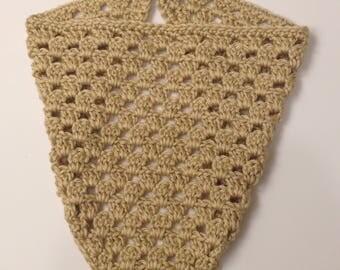 crochet bandana, crochet kerchief, crochet headband, kerchief, triangle scarf