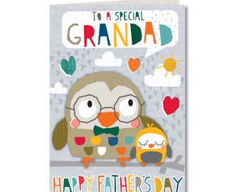 SPECIAL OFFER! Was 1.99, Now 1.50 - Cut-Out Cuties - To a Special Grandad - Happy Fathers Day - GrandFather - CO42