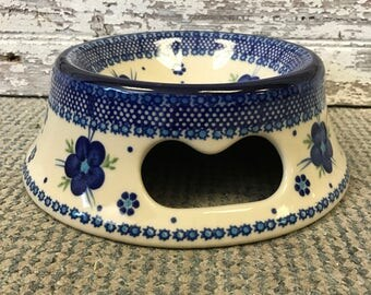 Polish Pottery Dog Bowl