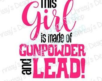 gunpowder svg / guns svg / girls and guns svg / gun cut file / gun silhouette / Gun girl svg / gun quote svg / vinyl crafts / gun clip art