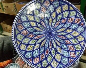 handmade big dinner plates