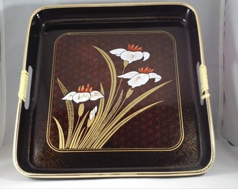 Vintage Japanese serving trays, Japanese serving trays, Vintage trays, Japanese trays, Asian serving trays, Decorative trays, Japanese trays
